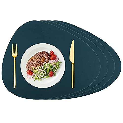 Silicone Placemats Set of 4, Water Drop Placemats for Round Tables