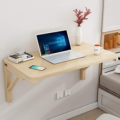 NWHJ Tavolo a Muro Scrivania Pieghevole per Laptop, Tavolo da Muro Cucina, Tavolo da Lavoro Pieghevole da Parete per Piccoli spazi, Accessori per staffe in Legno Resistente