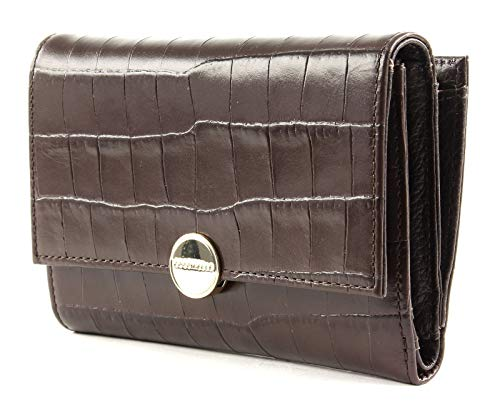 Coccinelle Olivia Croco Flap Wallet T.Moro, Braun