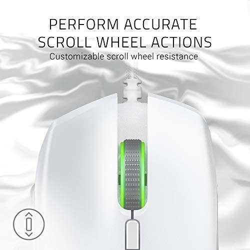 Razer Basilisk Mercury - 16.000 DPI optischer Sensor - Chroma RGB Beleuchtung - 8 programmierbare Tasten - Mechanische Schalter - Individuell Anpassbarer Scroll Widerstand (Weiß)