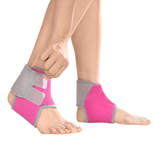 YJZQ Kinder Knöchelbandage Sport Fußbandagen Sprunggelenkbandage mit Klettverschluss Atmungsaktive Knöchelstütze für Kompression beim Laufen Fußball Volleyball
