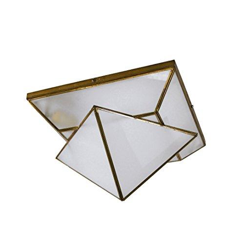 Plafón Granadino Artesanal Modelo Piramide 7072/0EVOP (Envejecido -Cristal Opal)