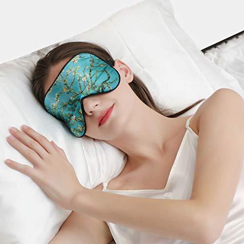 ZIMASILK Verstellbare 100% Seide Schlafmaske Gut für den Schlaf (Muster5)