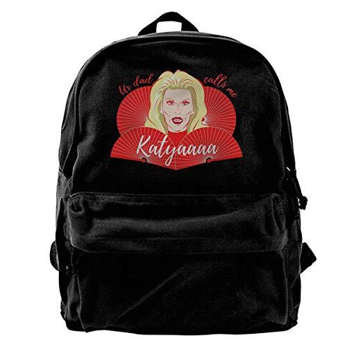 Yuanmeiju Fashion Canvas Backpack Katya Zamolodchikova Party Lightweight Multi Function College School Laptop Backpack