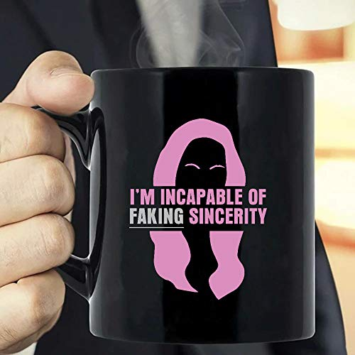 Situen Incapable Of Faking Sincerity Coffee Mug - The Funny Coffee Mugs For Halloween, Holiday, Christmas Party Decoration 11-15 Ounce Cettire
