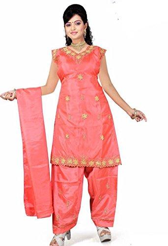 Trendofindia Lachs Salwar Kameez/Punjabi Größe XL