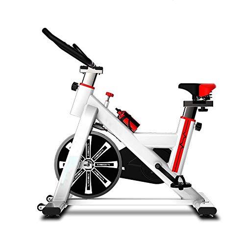Yuefensu Bicicleta Deportes casa en Bicicleta Bicicleta estática Cubierta del Pedal Silencio Equipo de la Aptitud Aptitud de la Bicicleta (Color : White, Size : 92-102x50x120cm)