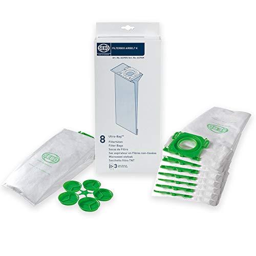 SEBO 6629ER 24 Premium Staubsaugerbeutel + Hygienedeckel - Spezielles hygienisches Synthetikmaterial - für Airbelt K - Bestleistung beim Saugen - Hochwertige Qualität