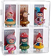 """Acrylic Display Rack Case,Acrylic display cases for collectibles, Acrylic display case with Door for Figure Display,Mini Figures,Funko Pop,Pop Mart,6 Compartments,Each Compartment: 2.4""""x2.2""""x3.9"""""""
