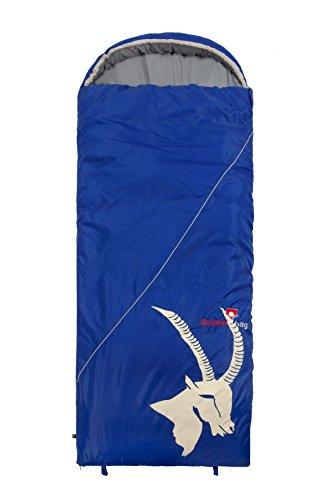Grüezi Bag Sac de Couchage avec Ouverture à Droite Bleu