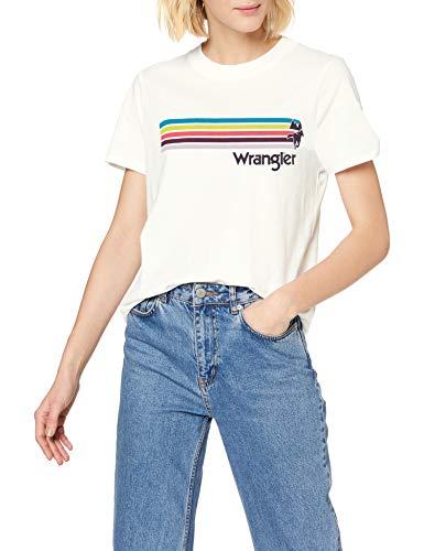 Wrangler High Rib Regular tee Camiseta para Mujer