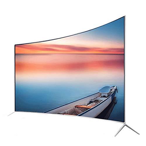 XZZ Televisor LCD De 55 Pulgadas, Monitor De Computadora, HDR Ultra Claro 4K, Pantalla Curva De Vidrio Templado, Interacción Multipantalla, Televisión Inteligente con Voz Artificial