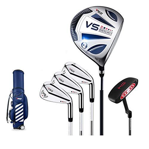 WYSTAO 5Golfschläger Mit Standbag,Herren Graphit Golfset, Regular Anfänger-Halbsatz (Color : Steel Shaft)