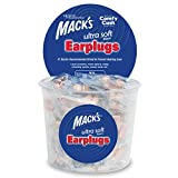 Mack's Ultra Soft Foam Earplugs, 100 Pair - 33dB Highest NRR, Comfortable Ear Plugs for Sleeping, Snoring, Travel, Concerts, Studying and Loud Noise