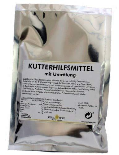 Royal Spice Kutterhilfsmittel mit Umrötung - Ultra ergiebig für bis zu 20kg - Zur Herstellung von Brühwürsten mit Pökelsalz - 100g