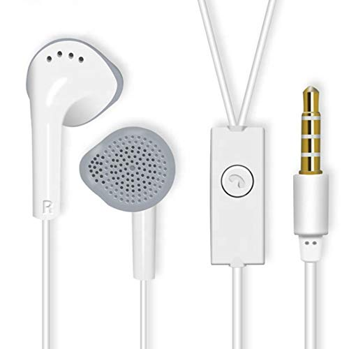 RB Dual Drive 4D Wired in-Ear Earphones with Mic and Volume Control Button for All Smartphones (Samsung)