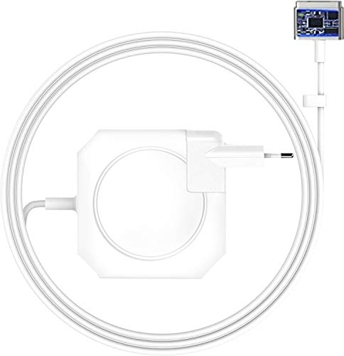 Compatible con Cargador Osloon MacBook Pro, Adaptador de Corriente Magsefe 2 AC 60w, Cargador con T-Tip magnético, Apto para Mac Book Air de 13 Pulgadas (Modelos anteriores a Mediados de 2012)