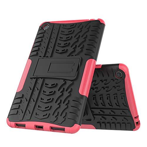 DAYNEW für Xiaomi Mi Pad 4 hülle,2 in 1 Armour Dual Layer Rüstung Defender TPU+PC schützender Zwei-Schichte Armor Design Tasche mit schlagfesten für Xiaomi Mi Pad 4-Rose Rot