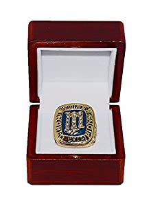MINNESOTA TWINS (First Title) 1987 WORLD SERIES CHAMPIONS Vintage Rare & Collectible High-Quality Replica Baseball Gold Championship Ring with Cherrywood Display Box