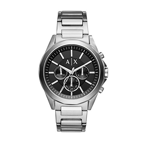 Armani Exchange Herren Chronograph Quarz Uhr mit Edelstahl Armband AX2600