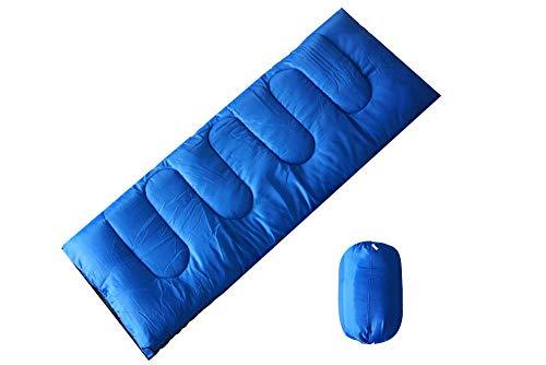 HuiHang Slaapzak met compressiezak, brede deken slaapzak, comforttemperatuur 5-15 ° C, 3-4 seizoenen, gemakkelijk te vervoeren, camping, wandelen