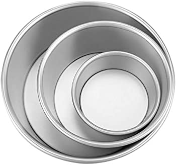 3-Pack Round Baking Pans with Removable Bottom (4