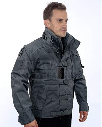 ZAPT 1000D CORDURA US Army Tactical Jacket Military Waterproof Windproof Hard Shell Jackets (Grey, XLarge:49-52'')