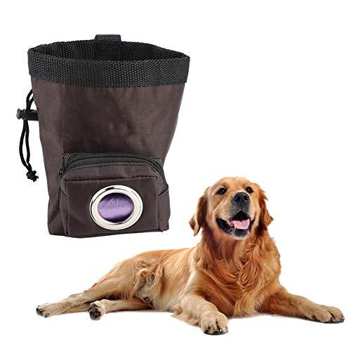 eecoo Draagbare huisdier-zaktas, opbergtas, opbergtas voor huisdieren, reizen en lopen met de hond, met extra Pet Poop-zakken, bruin