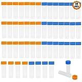 Dadabig 50 Pcs Tubo de muestras Tubos de ensayo de prueba 5ml Vial de Plástico con Tapa d...