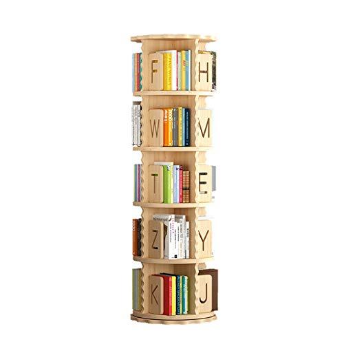 Scaffale Piccolo Libreria Girevole In Legno Massello Libreria Dal Pavimento Al Soffitto A 360 Gradi Semplice Libreria Per Studenti Libreria Per Lettere ( Color : Wood color , Size : 50.5*159cm )