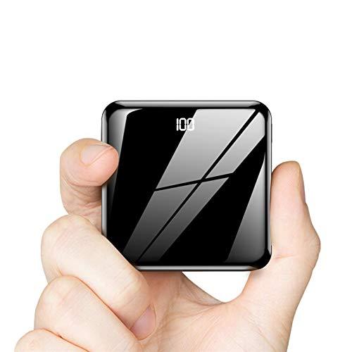Batería externa de 10000 mAh, mini batería con luz LED extrema, pantalla digital LCD alta capacidad, cargador portátil 3 entradas, 2 salidas para teléfono móvil, tableta y más dispositivos USB