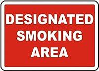 指定喫煙エリアティンサイン壁鉄の絵レトロプラークヴィンテージ金属板装飾ポスターおかしいポスター吊り工芸品バーガレージカフェホーム