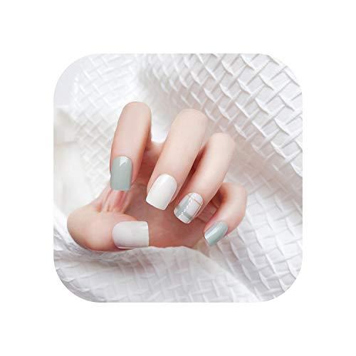 24pcs Wiederverwendbare Full Cover Glossy False Nail Tips für dekoriertes Stiletto Design Drücken Sie auf die Nägel Art Fake Extension Nails Tips 2020-