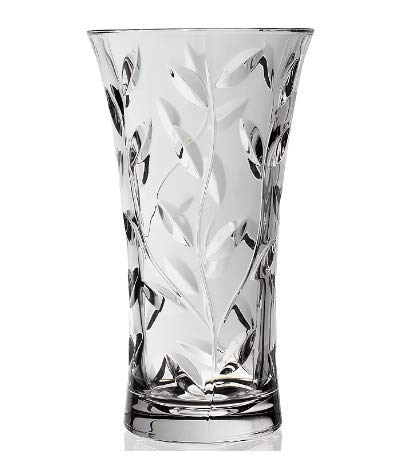 RCR Luxion Laurus Crystal Glass Vase 9.75' Tall