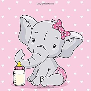 Baby Shower Guest Book: Elephant Baby Shower Guest Book Girl.  Baby Shower Guest Book Advice With Gift Log.  Baby Shower Autograph Book.