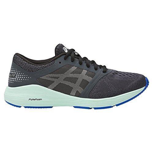 ASICS Women's Roadhawk FF Running Shoe - Color: Dark Grey/Silver/Glacier Sea (Regular Width) - Size: 6