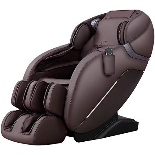 iRest 2021, Massagesessel für den ganzen Körper, Zero Gravity, 3D-Robotische Hände mit SL-Spur Massage der Wirbelsäule Shiatsu, Bluetooth-Lautsprecher, Rückenheizung, Massagerolle