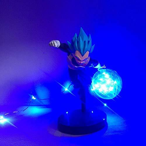 Yvonnezhang Dragon Ball Z Goku Spirit Bomb Lámpara Niños Bebé LED Luz Nocturna DBZ Anime Luminaria Figura de Acción Lámpara de Mesa 3D Luz para niños