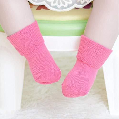 YUYUO Calcetines De Algodón para Bebés Calcetines Antideslizantes De Color Caramelo Calcetines para Bebés Calcetines para Bebés Recién Nacidos Durante 1-3 Años Calcetines Suaves para Niños