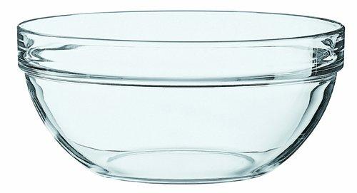 Arcoroc ARC 10022 Empilable schaal, stapelschaal, kom, 1800 ml, 20 cm, glas, transparant, 1 stuk