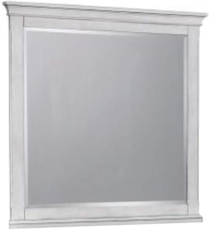 Benzara BM172139 Wooden Mirror, White