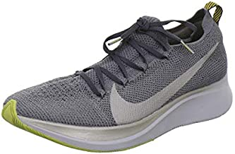 Nike Zoom Fly Flyknit Men's Running Shoe, Dark Grey/Metallic Pewter-black, 9.5