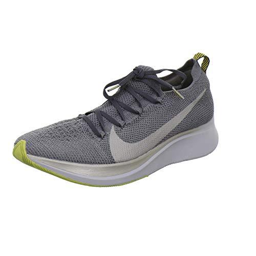Nike Zoom Fly Flyknit Men's Running Shoe Dark Grey/MTLC Pewter-Black Size 10.5