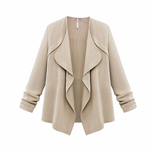 Best Deals! Han Shi Women Cardigans, Fashion Ruffles Autumn Spring Cuffed Sleeve Loose Coat Plus Siz...