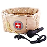 Decompression Back Belt Lumbar Traction Device for Lower Back Pain, Goldmille Lower Back Brace Inflatable - One Size for 29-49 Waist