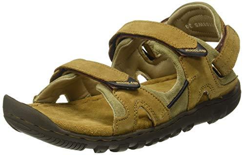 Woodland Men's Camel Leather Sandal-7 UK (41 EU) (GD 0491108WSA)
