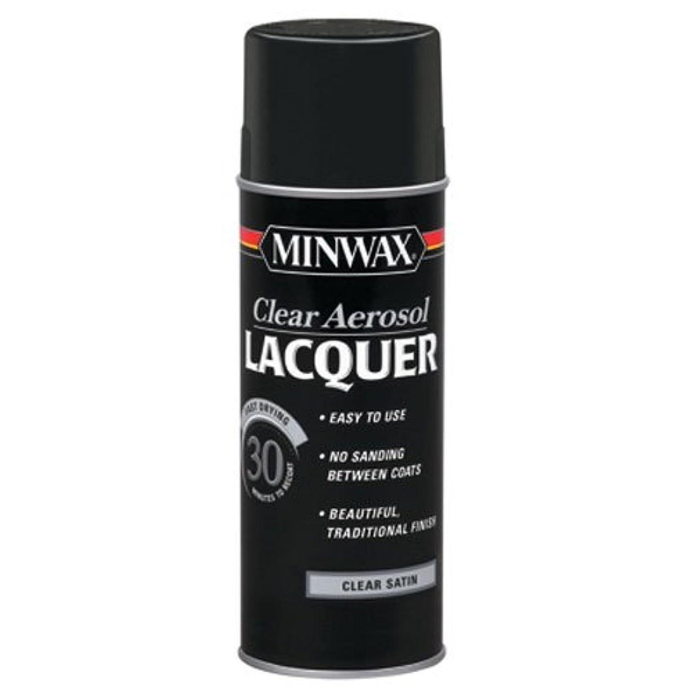 Minwax 15210 Clear Aerosol Lacquer Spray, 12.25-Ounce, Satin