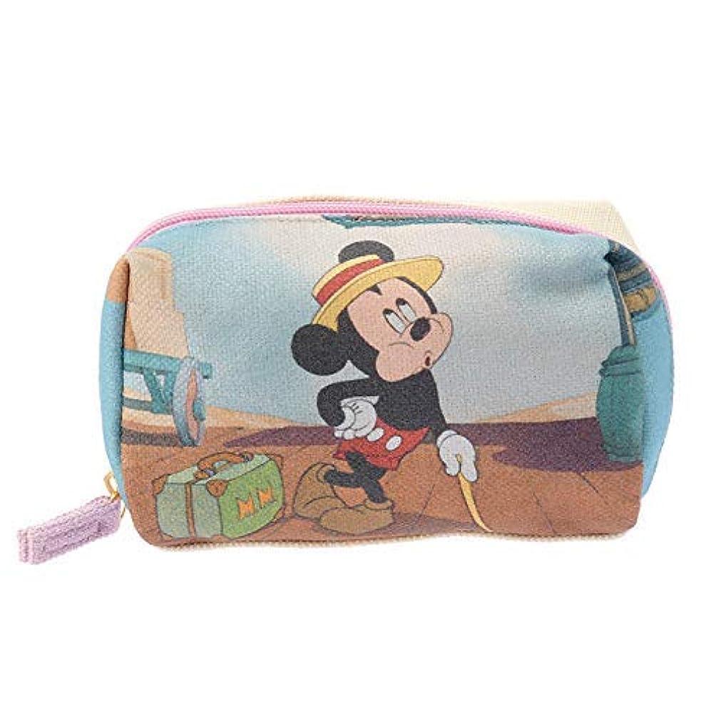 起きるジレンマノミネートミッキー ポーチ キャンバス ディズニー ディズニーストア グッズ 公式 汽車旅行 Mickey Mouse 90th Anniversary Film Art