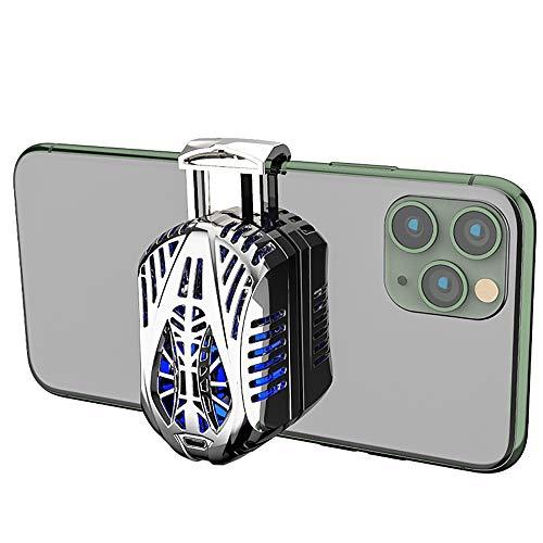 HUI JIN Handykühler Handy Kühler Lüfter Lüfter Lüfter Klimaanlage Prinzip Halbleiter Kühlung für Smartphones Tablets Silber