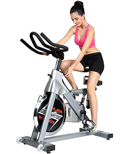 Best Bargain Lcyy-Bike Indoor Cycling Bicycle Trainers Commercial Manual Adjustable Resistance 18 Kg...